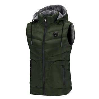 Mens Vests Spring Autumn Mens Fashion Sleeveless Jackets Male Cotton-Padded Vests Men Thicken Waistcoats Clothing