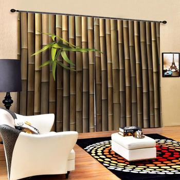 Decoration curtains Luxury Blackout 3D Window Curtains For Living Room Bedroom Customized size bamboo curtains