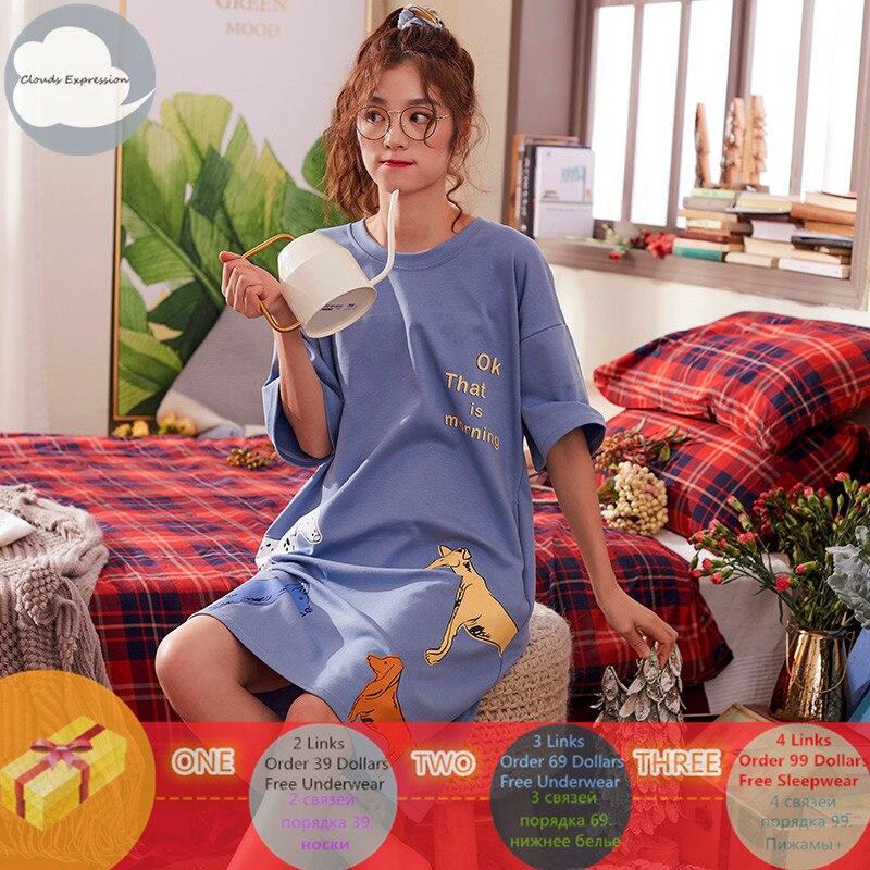 Brand-Summer-Nightgowns-O-neck-Cotton-Cartoon-Women-s-Sleepwear-Nightwear-Plus-Size-Sleep-Lounge-Nightdress (2)_副本