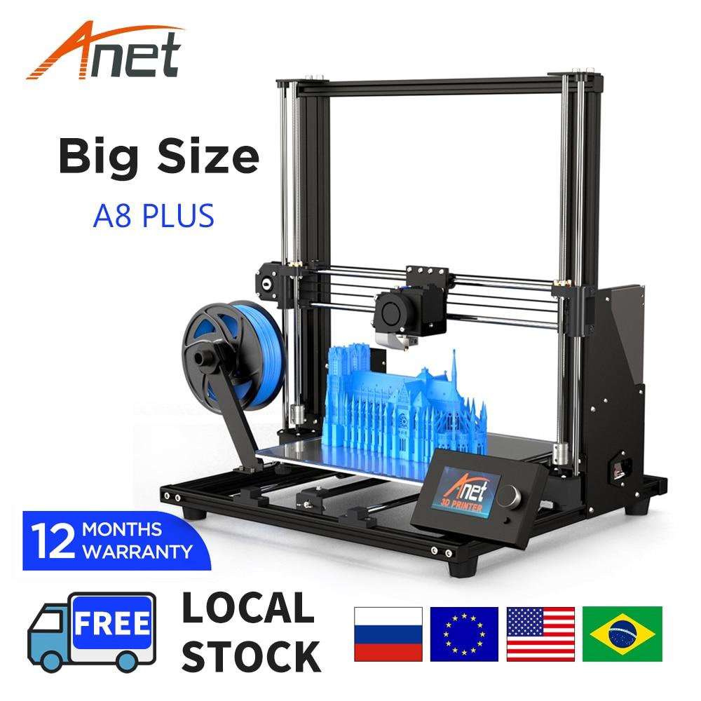 3D-принтер Anet A8 A8 Plus, набор «сделай сам», полностью металлическая рама, высокая точность печати на рабочем столе, карта SD USB