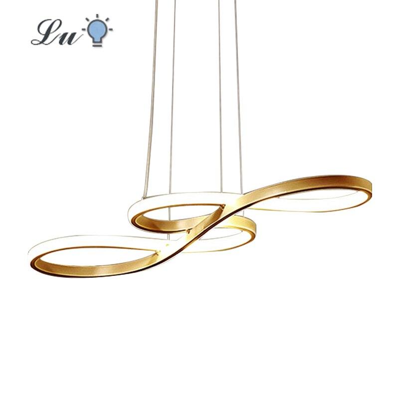 LED Pendant Lights Nordic Restaurants Hanging Lamp Modern Simple Musical Note Curved Light Bedroom Kitchen Lighting Fixtures