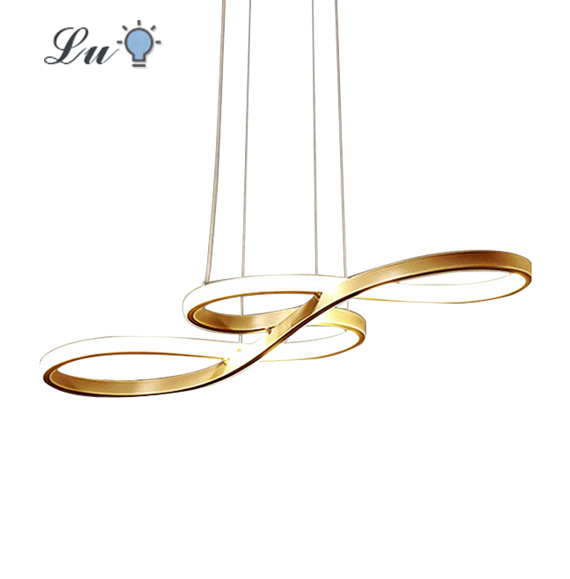 LED Pendant Lights Nordic Restaurants Hanging Lamp Modern Simple Musical Note Curved Light For Bedroom Kitchen Lighting Fixtures