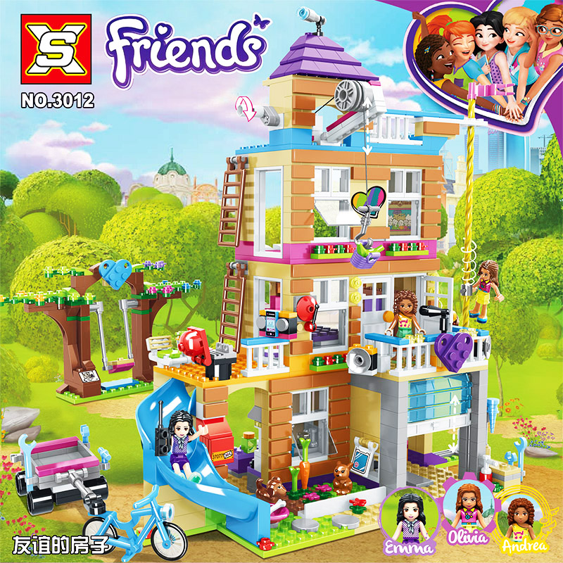 730Pcs Compatible Lepining Friends Series 41340 Friendship House Set Toys For KID Girls Building Blocks Bricks Birthday Gifts