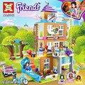 730Pcs Kompatibel Lepining Freunde Serie 41340 Freundschaft Haus Set spielzeug für KID Mädchen Bausteine Ziegel Geburtstag Geschenke