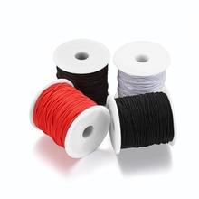 100 м 0,8 1,0 эластичный шнур мм бисер стрейч нить веревка шнур веревка бусины для DIY Изготовление, поиск ювелирных изделий принадлежности аксес...