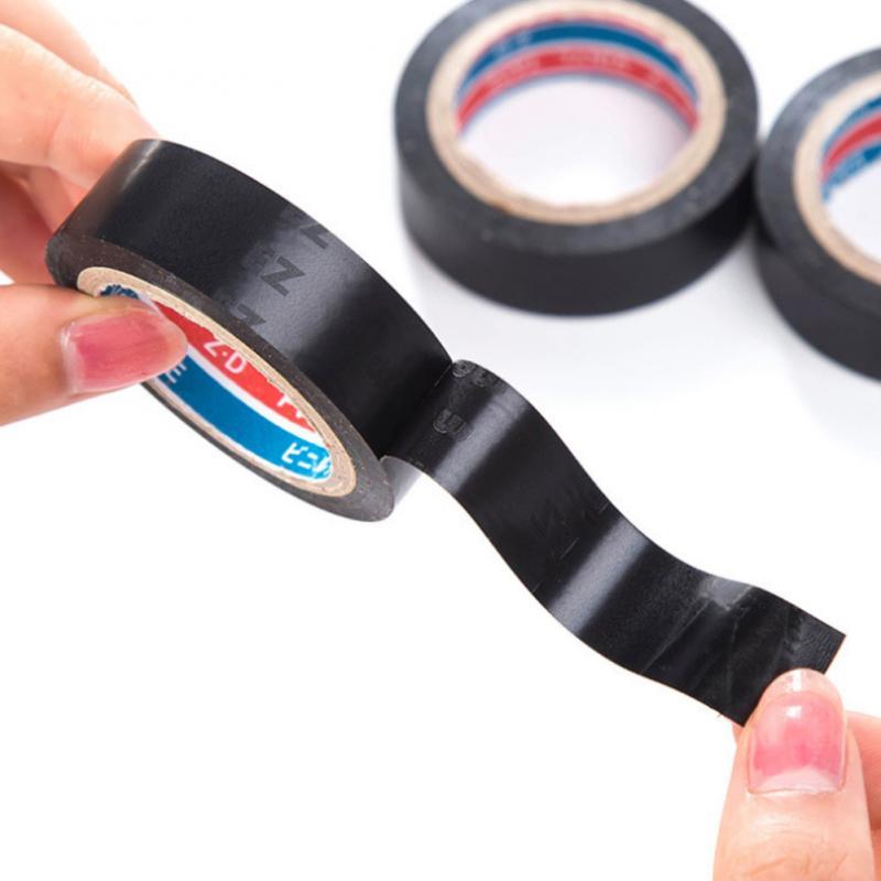 6M Black Flame Retardant Electrical Tape Insulating Tape PVC Waterproof Stop Leak Seal Repair Self-adhesive Tape Pipe Tape