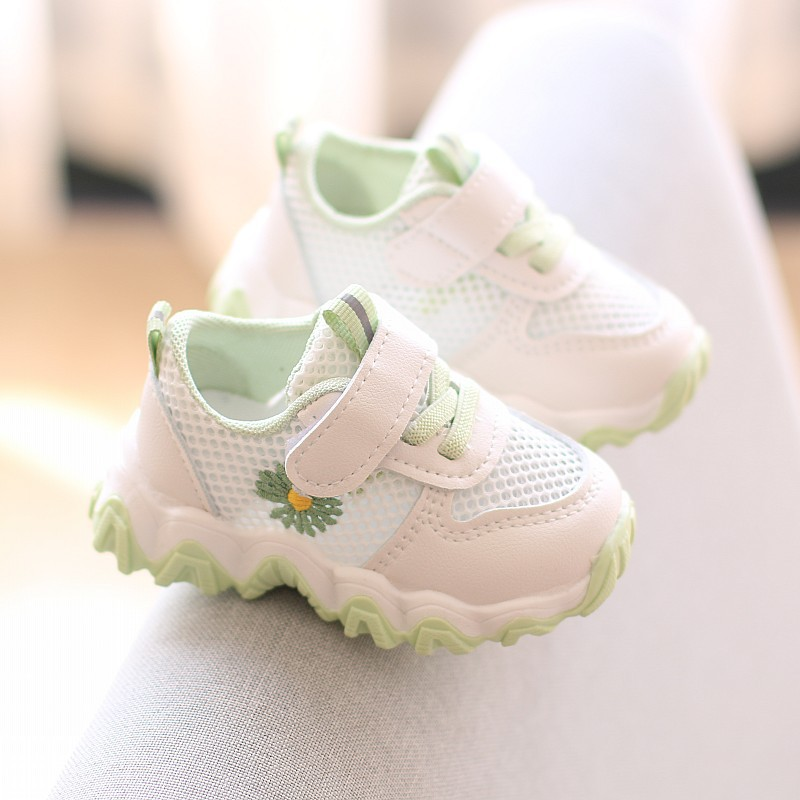 Spring And Summer Baby Toddler Casual Shoes Mesh Breathable Soft Soles Sneakers Mesh Boys And Girls Single Summer Shoes Sandals