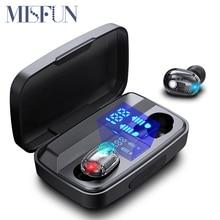 Tws kulaklık kablosuz bluetooth 5.0 kulaklık Mini mikrofonlu kulaklık şarj kutusu spor şeffaf kulaklık akıllı telefon için