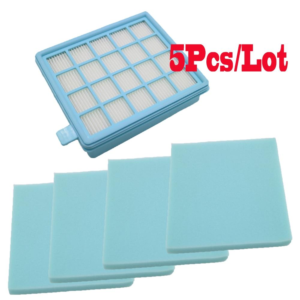 5pcs/lot Filter Mesh HEPA FILTER BUFFALO-MISTRAL For Philips Vacuum Cleaner FC8470 FC8471 FC8472 FC8473 FC8474 FC8476 FC8477