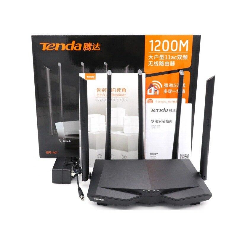 Cross Border Tenda AC7 Wireless WiFi Gigabit 5g Dual-Frequency AC1200M Household Router