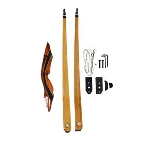 Image 3 - 1pc 62 インチアーチェリーロングボウ 25 55lbs American Hunting 弓積層弓手足トレーニング Taget 狩猟アクセサリー