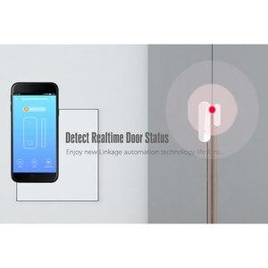 Tuya WiFi inteligente puerta Sensor abierto/cerrado detectores Wifi alarma de casa