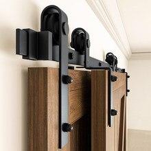 Gifsin-sistema de suspensión curvada de oruga, herrajes para puertas corredizas de Granero, 4-9.6 pies