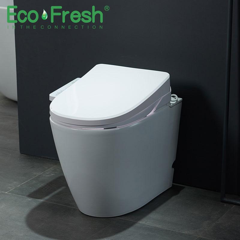 Ecofresh, умное сиденье для унитаза, u образное электрическое биде, сантехника для ванной, УФ антибактериальное автоматическое мытье, подогрев унитаза