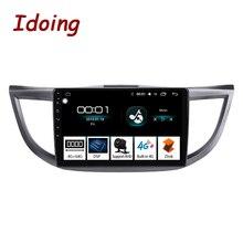 "Ido 10.2 ""4G + 64G 8 Core سيارة أندرويد راديو تلقائي مشغل وسائط متعددة لهوندا CRV CR V 2012 2016 لتحديد المواقع والملاحة Glonass 2.5D IPS"