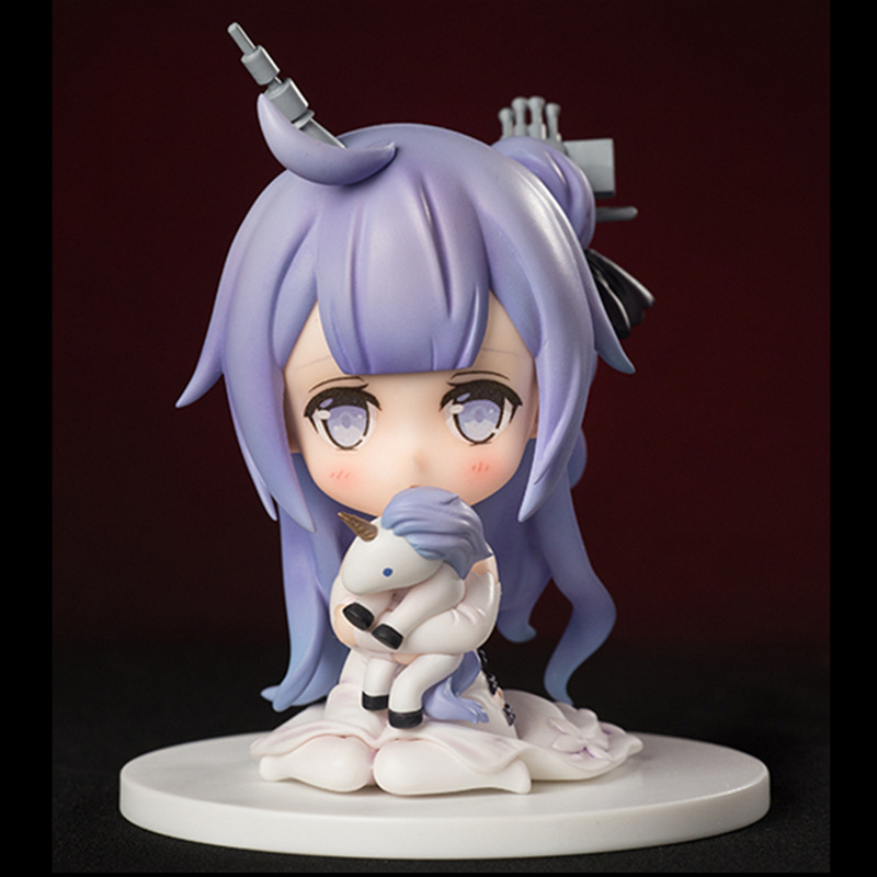 10cm Anime Game Azur Lane Figure Cute Q Version Unicorn and Hamman Action Figure PVC Collectible Model Toys doll gifts for kids