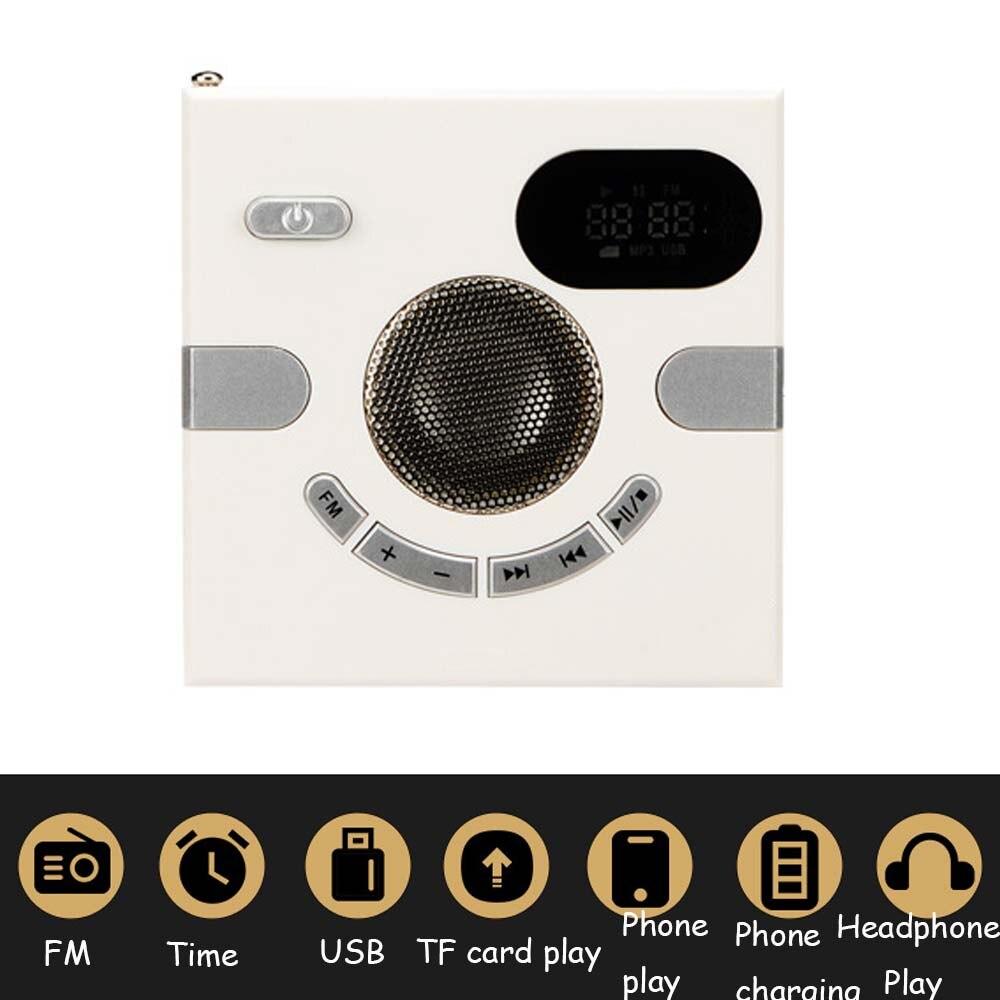 86 Type haut-parleur mural Radio FM avec affichage de l'heure prise casque prise en Charge Audio AUX carte TF disque USB lecteur MP3 USB Charge