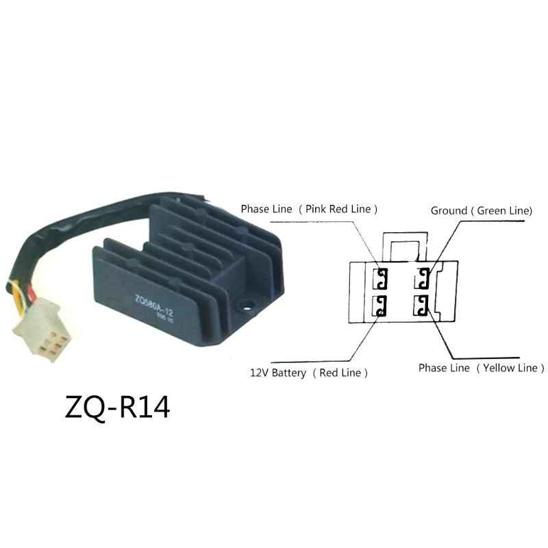 4 Wires 12V Voltage Regulator Rectifier for Motorcycle Boat Motor Mercury  ATV GY6 50 150cc Scooter Moped JCL NST TAOTAO|taotao|taotao scootertaotao  atv - AliExpressAliExpress
