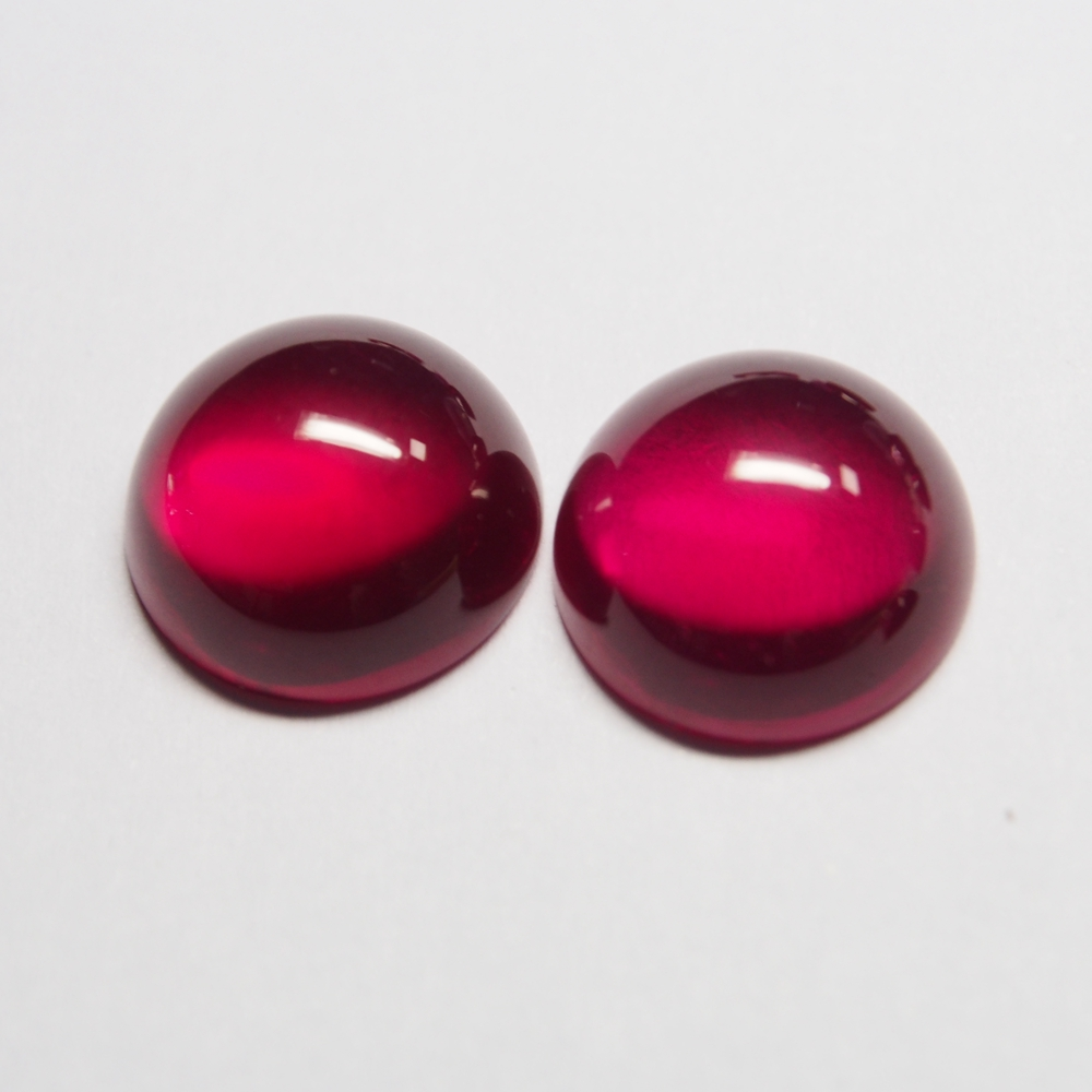 8mm 20 Piece/a lot High Quality Round Flatback Cabochon Corundum Ruby Gemstone For Jewelry