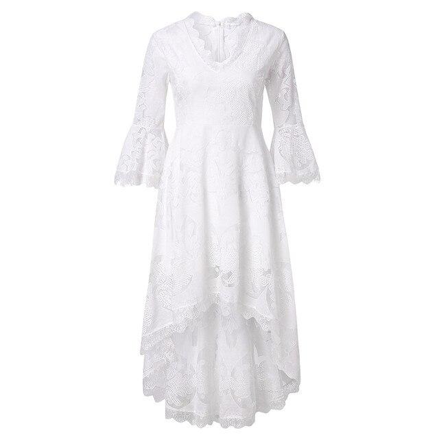 ZOGAA Weiß Spitze Abend Party Kleider Frauen 2019 Dame Elegante Boho Sommer Lange Kleider Kleid für Frauen robe boheme chic vestidos