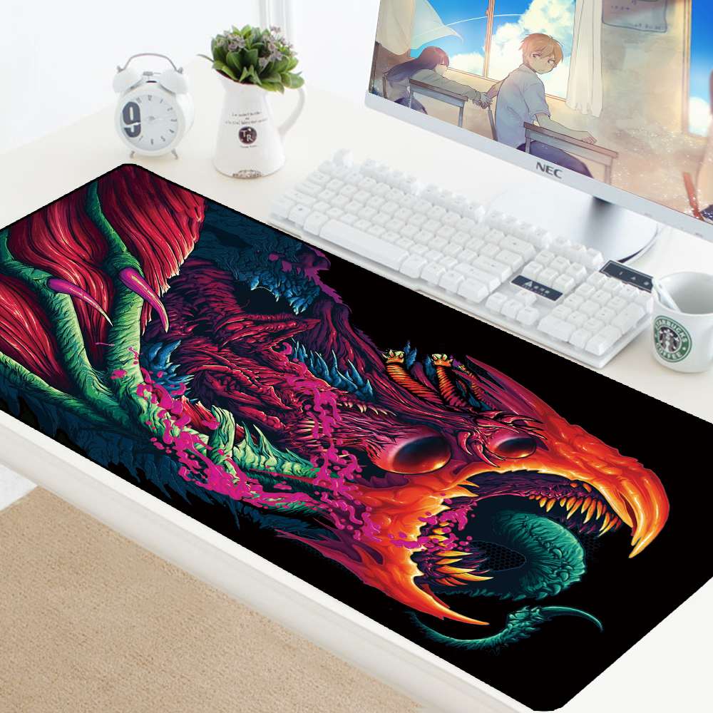 Large Size Gaming Mouse Pad Mat Grande For CS GO Hyper Beast Gamer XL XXL Computer Mousepad Game For Csgo Muismat PC 900x400mm