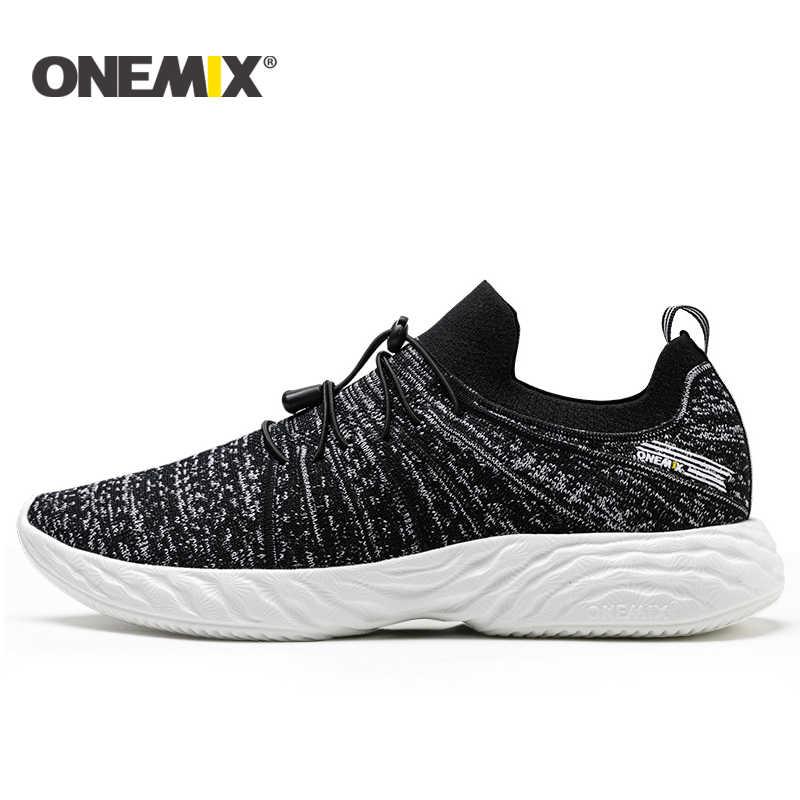 Onemix ใหม่รองเท้าวิ่งฤดูร้อนสำหรับรองเท้าผู้ชาย unisex Breathable ตาข่ายน้ำหนักเบารองเท้าผ้าใบกลางแจ้งเดิน Trekking รองเท้ารองเท้ากีฬา