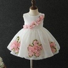 Рождественское праздничное платье для малышей платье принцессы без рукавов для новорожденных девочек шифоновое платье с цветочным рисунком для малышей от 0 до 6 месяцев