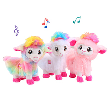 Jouet électrique en peluche, bébé alpagas poupée musicale, jouet amusant et amusant pour animaux de compagnie, Boppi le butin du lama Shakin, têtes secouées, danse, chant
