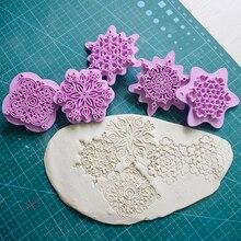 Mandala pizzo modello goffratura Die plastica timbro argilla polimerica scultura Texture timbro argilla strumento 5 pz/set Mandala punteggiatura strumenti