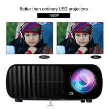 Full HD Projector 2600 lumen 800x 480Dpi HDMI LED for 1080P Video beamer Home Media Player Office Black