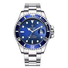 TEVISE Green Water Ghost Watch MenS Luxury Mechanical Steel Belt Waterproof Automatic Business Men New