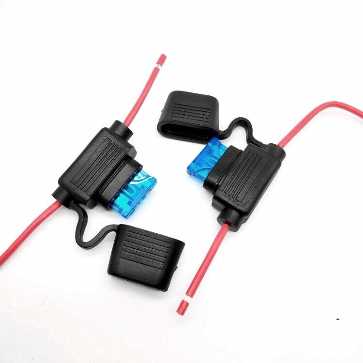 10 Gauge ATC Inline Fuse Holder Car Truck Uses Regular Standard Blade Fuses