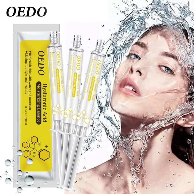 3pcs/lot Shrink Pore Hyaluronic Acid Serum Facial Moisturizing Essence Natural Ingredients Face Skin Care Nourishing Ageless