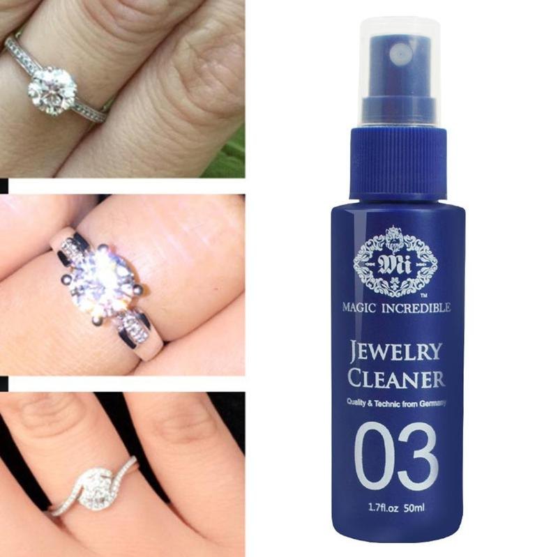 50ml Anti-scale Clean Diamonds Silver Gold Jewelry Fast Cleaners Gemstones Jewelry Cleaners Clean Gold Watch Diamond Ring