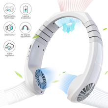 Spot Personal Air Conditioner Neck Fan Cooler Portable Smart Cooling Neckband Fan Rechargeable QP2