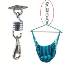Hammock Chair Accessories Stainless Steel Swing Buckle Hanging Basket Wicker Chair Hardware Fit For Fan Sand Bag Suspension