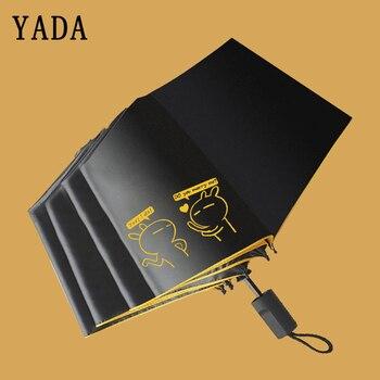Paraguas de conejo de dibujos animados de alta calidad YADA paraguas de lluvia Tuzki uv para mujeres paraguas de animales lindos a prueba de viento YS725 para mujer