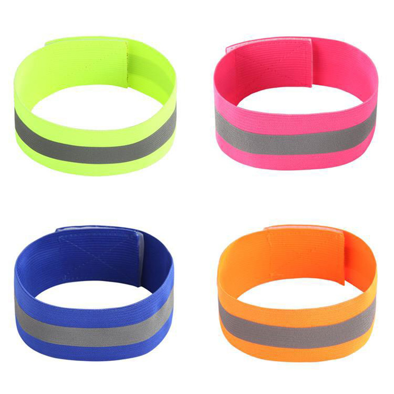 2PCS/Pair  Arm Wrist 2019 New Elastic Reflective Armband Night Cycling  High Visibility Sports Safety Belt Wrist Ankle Support