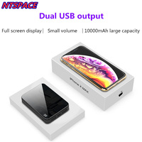 10000mAh Extended Phone Battery Power For iPhone Samsung Mini Power bank Dual USB External Battery Charger For Xiaomi Huawei