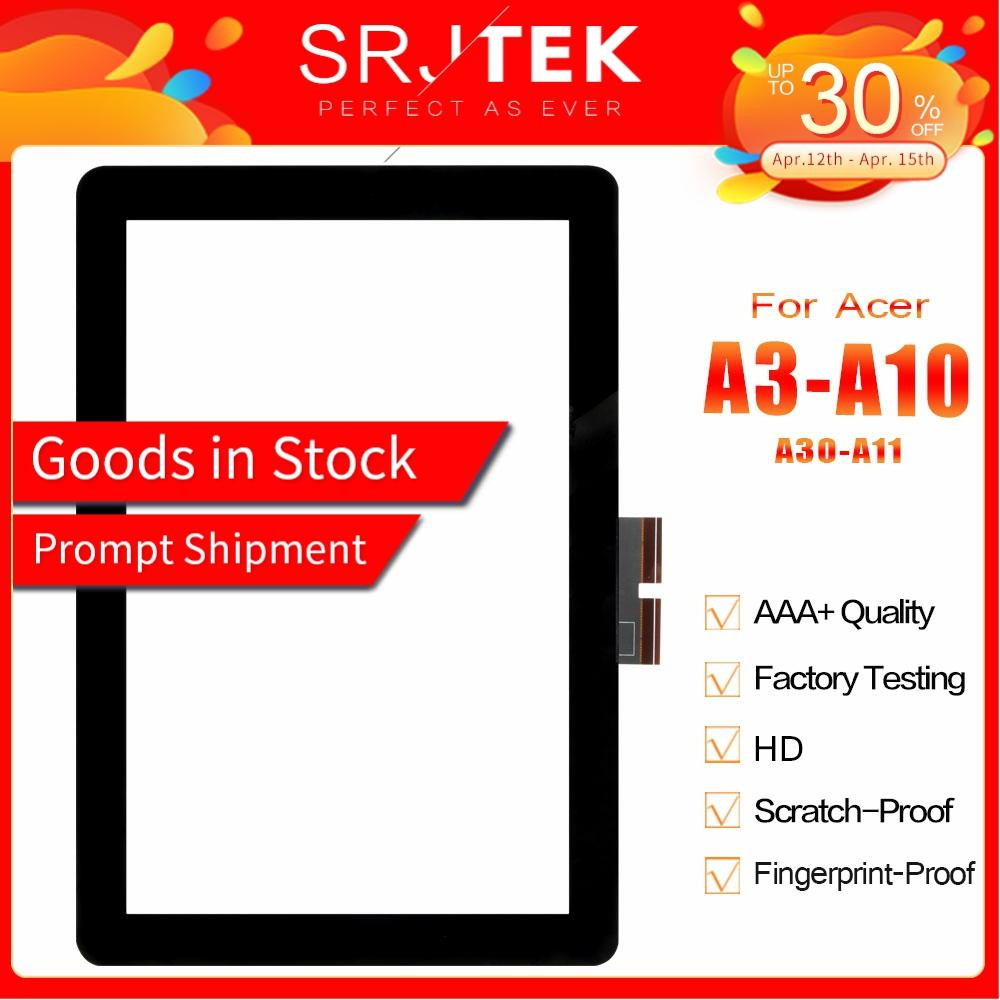 "SRJTEK 10.1"" Touch Screen For Acer Iconia Tab A3-A10 A3-A11 A3 A10 A11 Touch Panel Digitizer Glass Lens Sensor Replacement Parts"