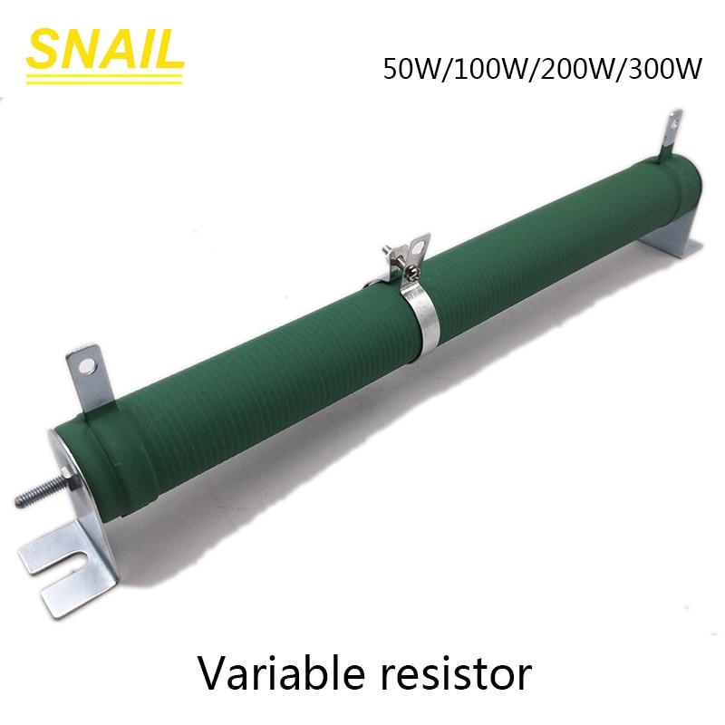 50w 100w 200w 300w resistor variável, potenciômetro, tubo de porcelana, resistor ajustável, rheostat deslizante
