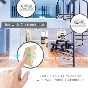Image 5 - זהב WiFi חכם מתג קיר לא ניטרלי חוט צורך אלחוטי חכם חיים Tuya שלט רחוק יחיד אש לעבוד עם Alexa RF433