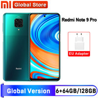 Versión Global Redmi Nota 9 Pro 6GB 64GB / 6GB 128GB NFC Smartphone Snapdragon 720G Octa Core 64MP Quad 5020mAH Cámara