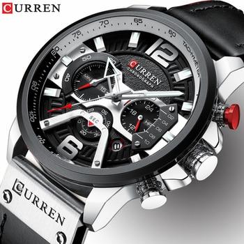 Relógio CURREN Couro Cronógrafo 8329 2