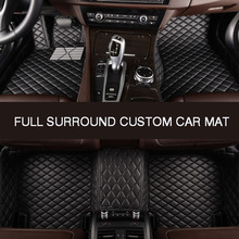 HLFNTF Full surround custom car floor mat For honda accord 2003-2007 civic crv 2008 cr-v jazz fit city 2008 car accessories universal car seat cover for honda accord 2003 2007 2018 civic city cr v jazz fit car accessories