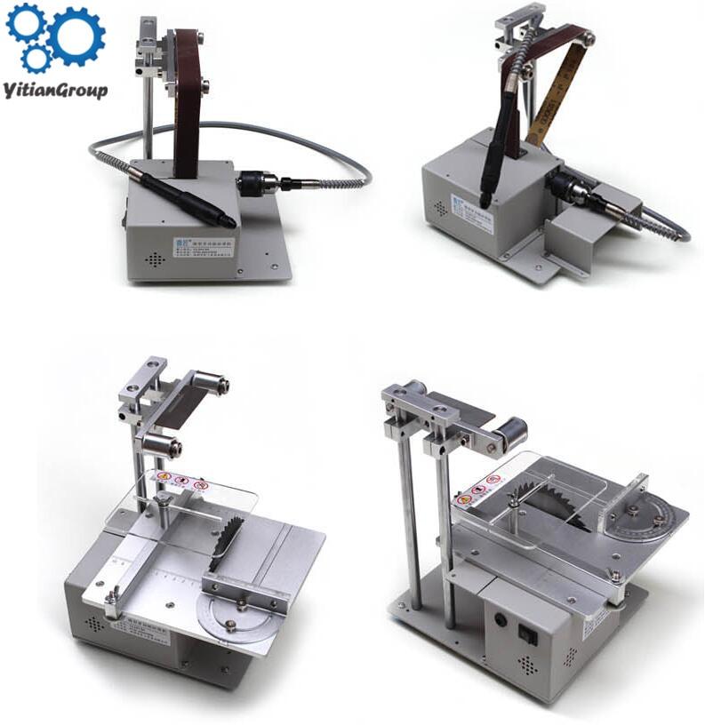 Electric Belt Sander Mini Ponceuse Multi-function Cutting Machine Table Saw DIY Woodworking Desktop Sanding Grinding Machine