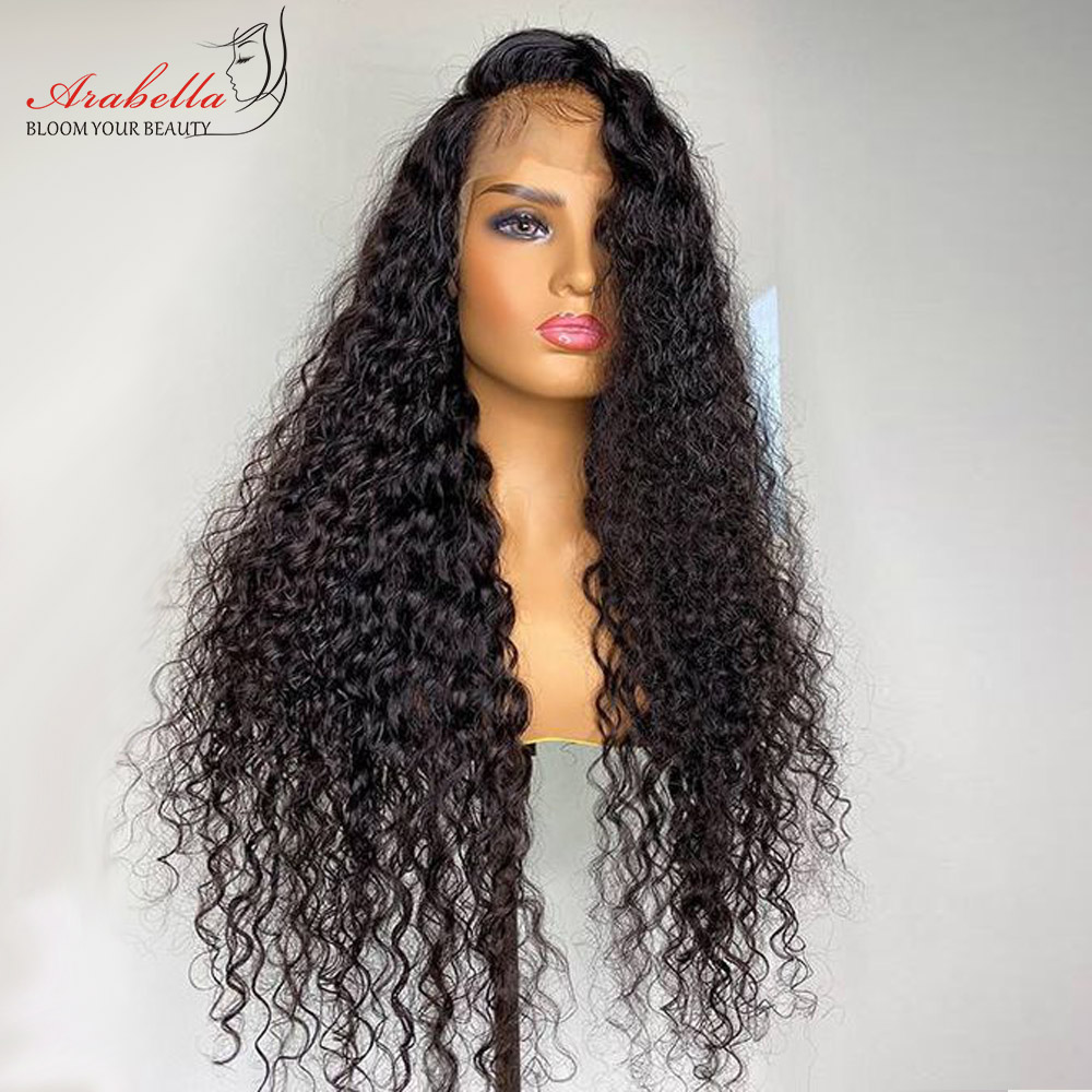 Perruque Deep Wave 100% naturelle Remy – Arabella, perruque Lace Front Wig, pre-plucked, avec Baby Hair, pour femmes africaines