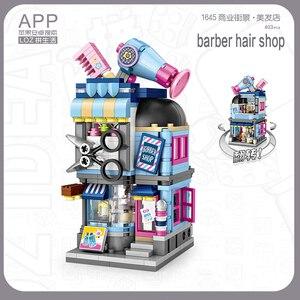 LOZ мини-строительные блоки, уличный город, Парикмахерская, пекарня, фото, одежда, магазин, модель зодиака, серии, кирпичи, развивающие игрушки...