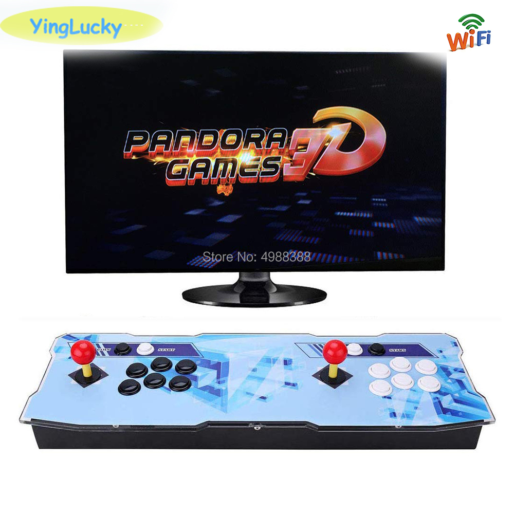 Yinglucky Pandora Box 3D 2448 In 1 9D 3288 Arcade Game Box Save Function Zero Delay HDMI WIFI Download Game 3P 4P Simulator MEMA