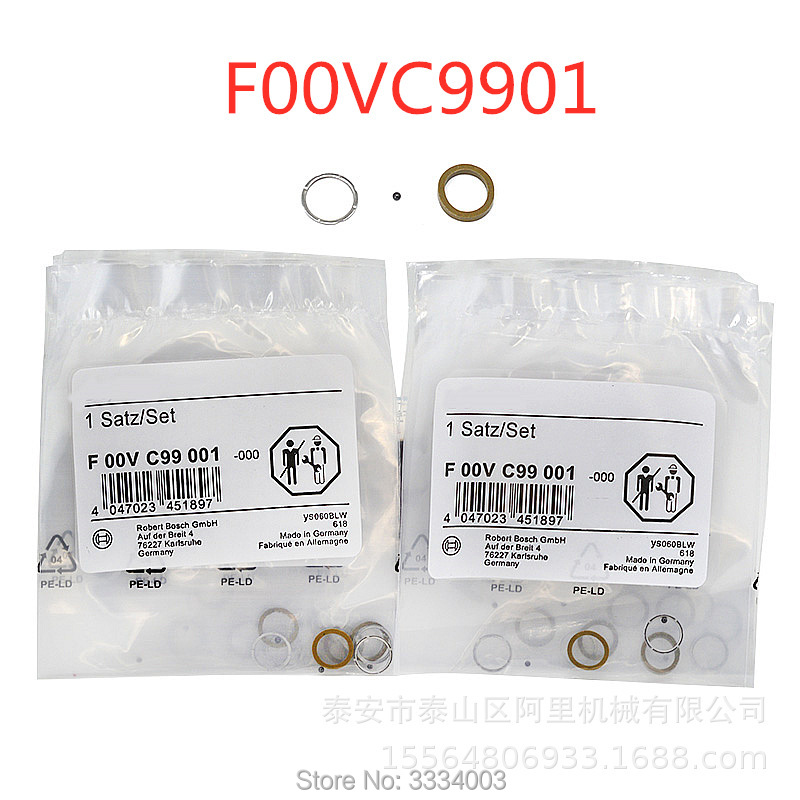 FOR BOSCH Diesel Common Rail Injector Seal Washer Ring Valve Ball Repair Kits F00VC99001 F00VC99002 F00VC99177